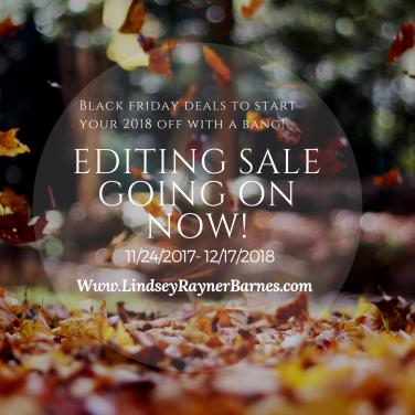 Black Friday 2017 Editing Sale